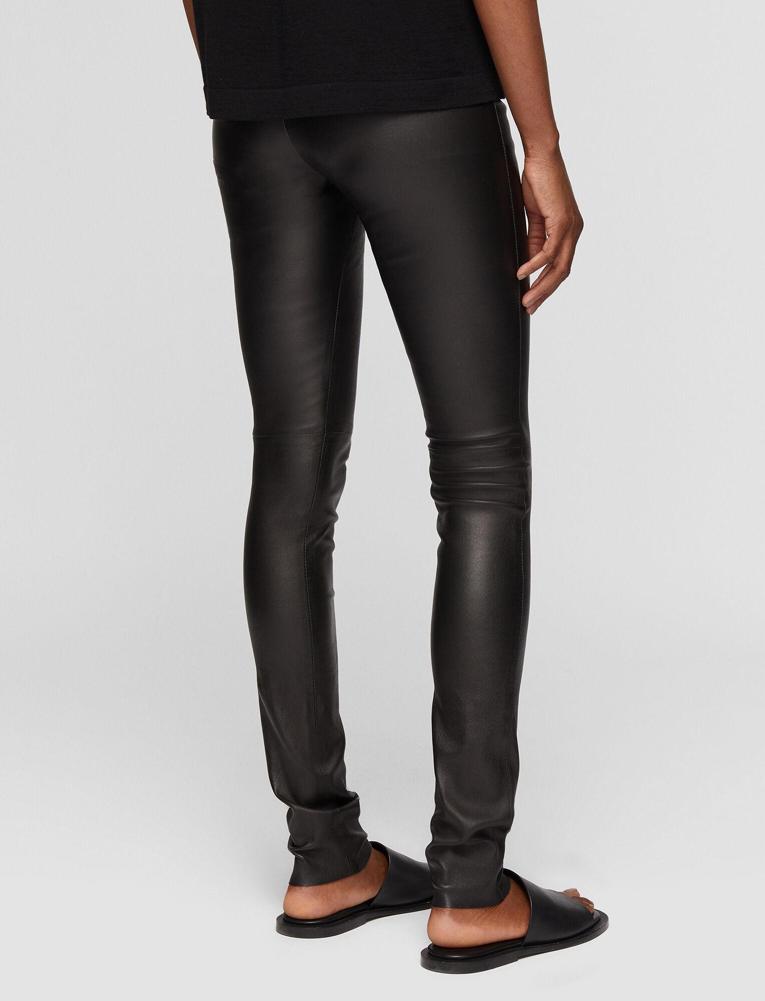 Joseph, Leather Stretch Leggings, in BLACK