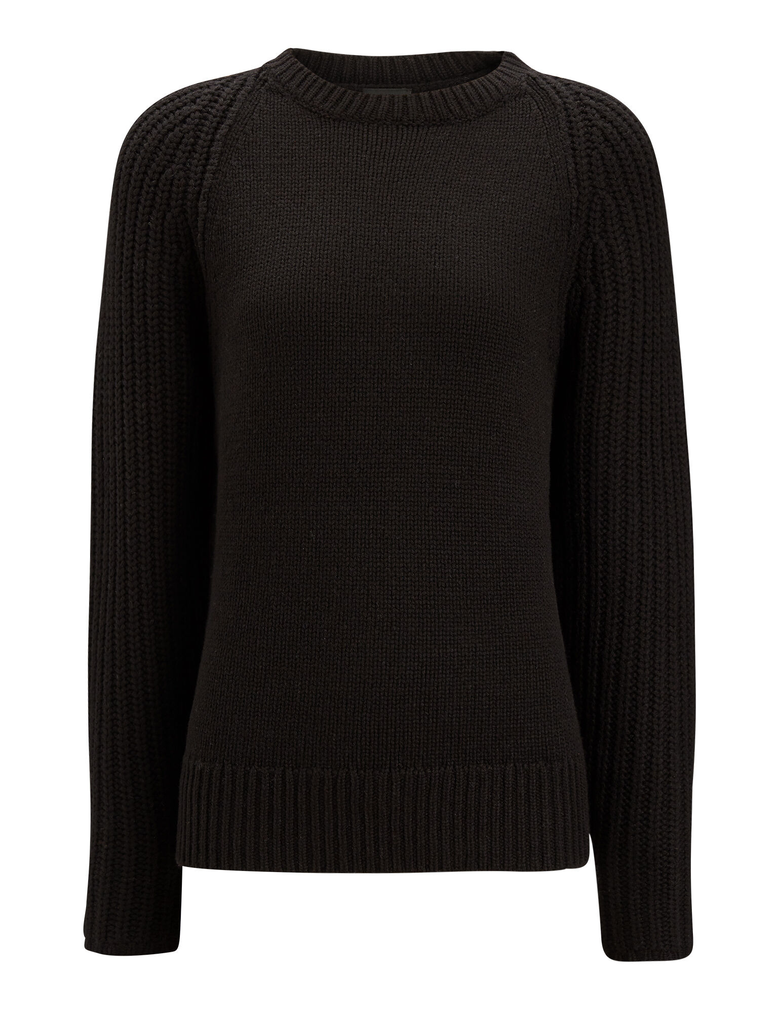 Joseph, Soft Wool Purl Stitch Knit, in BLACK