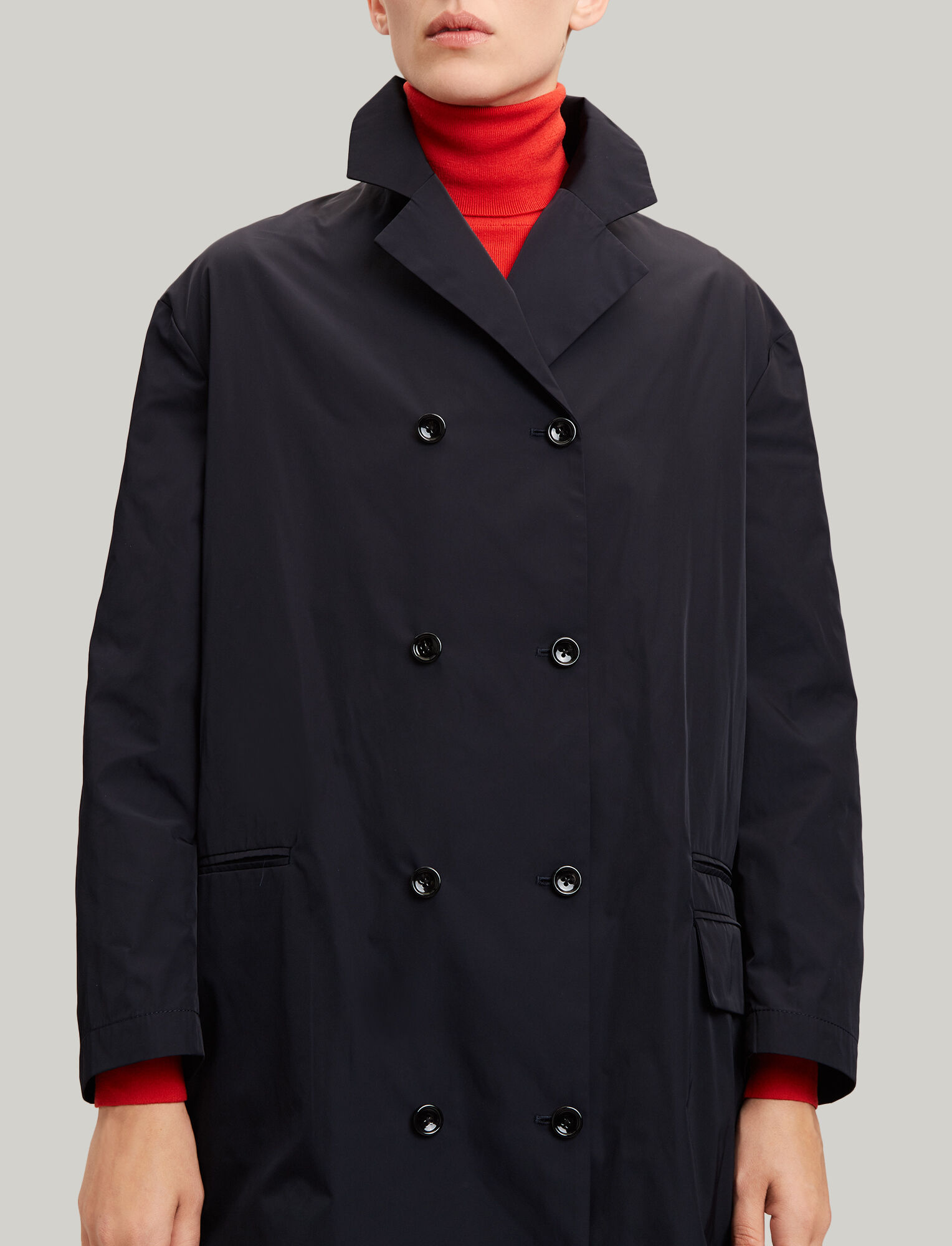 Joseph, Richter Taffeta Nylon Coat, in NAVY