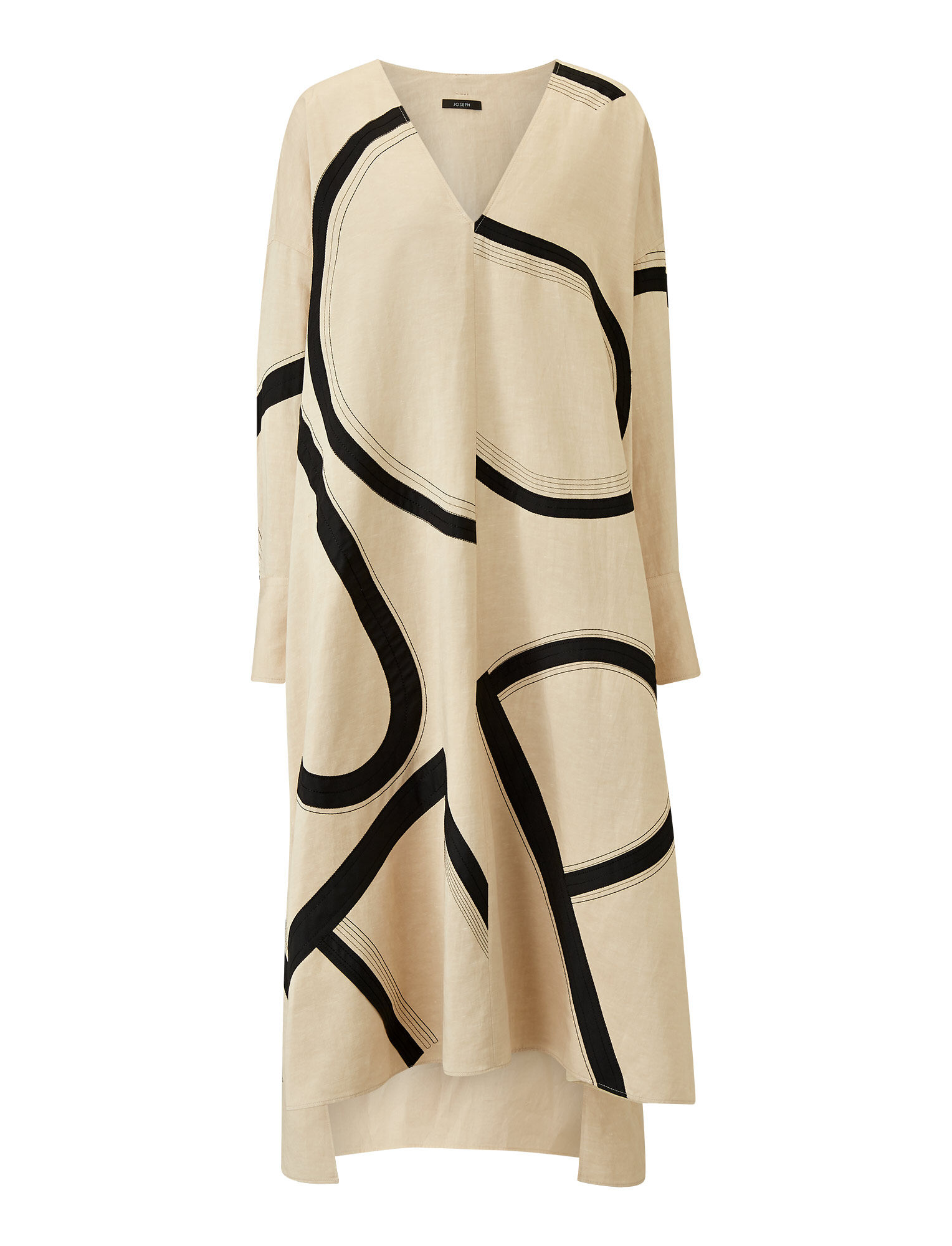 Joseph, Dalamo Poplin Blanket Dress, in STRAW