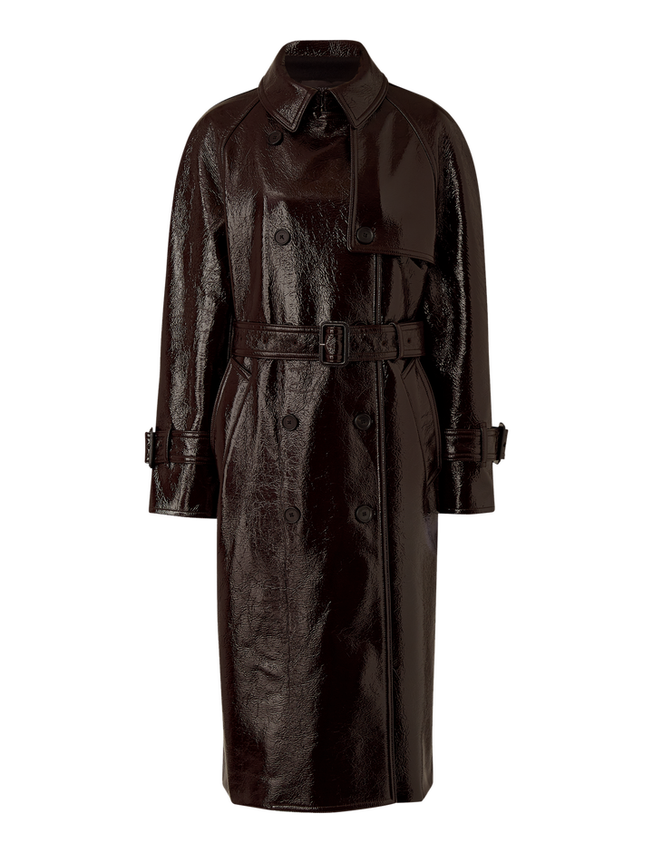 Joseph, Coated Felt Trench, in MAROON