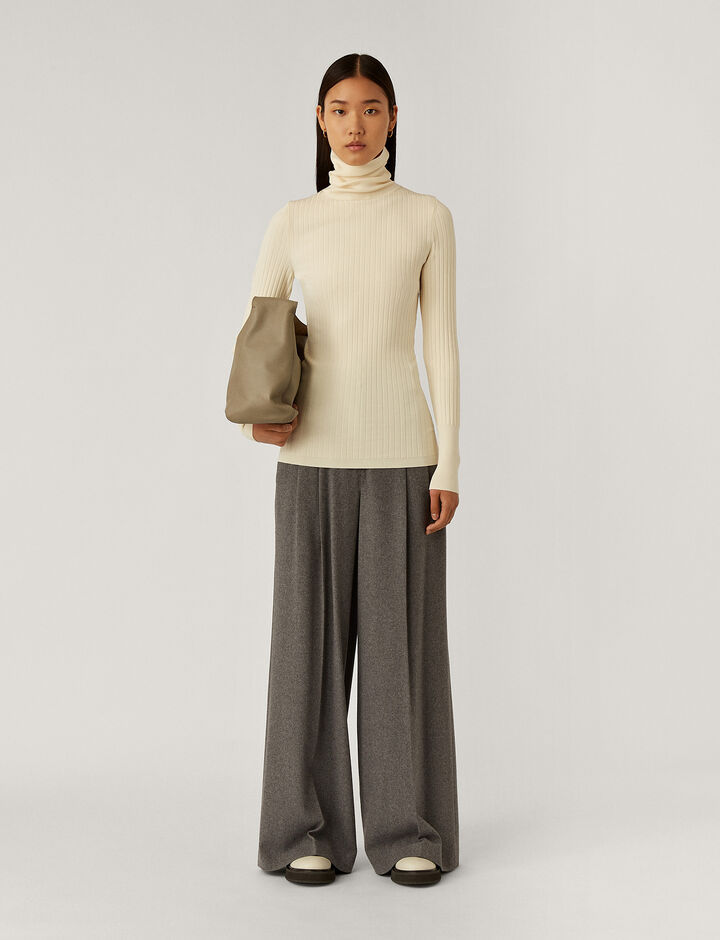 Joseph, High Nk Knitwear, in Ivory