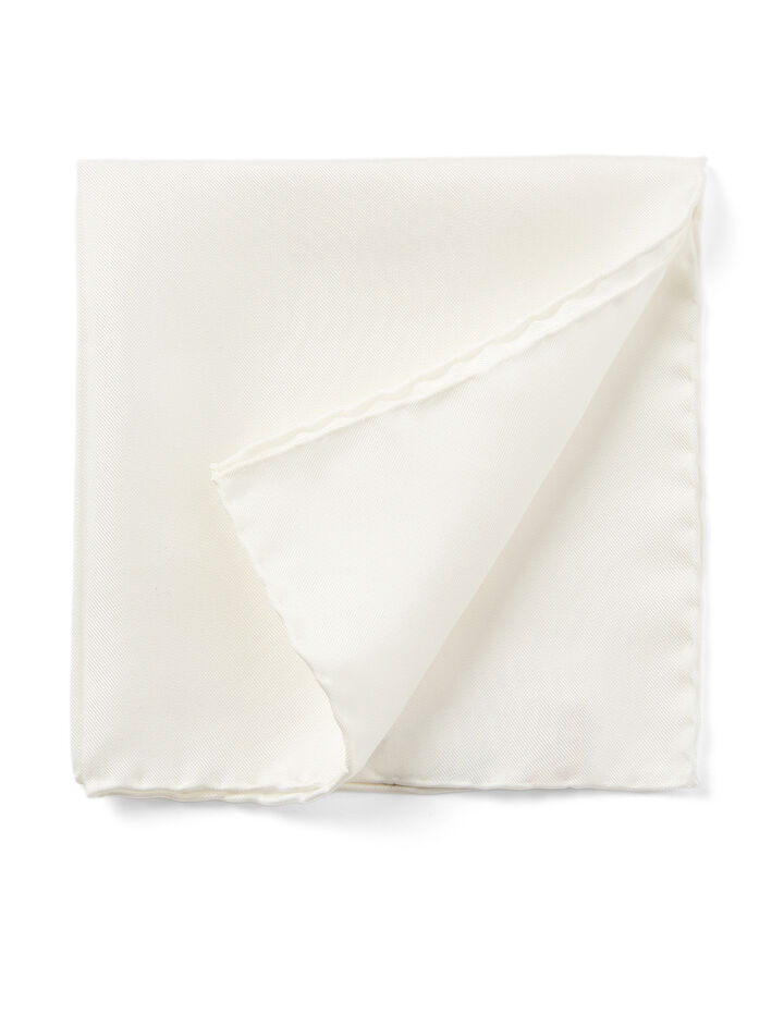 Joseph, Silk Pocket Square, in WHITE