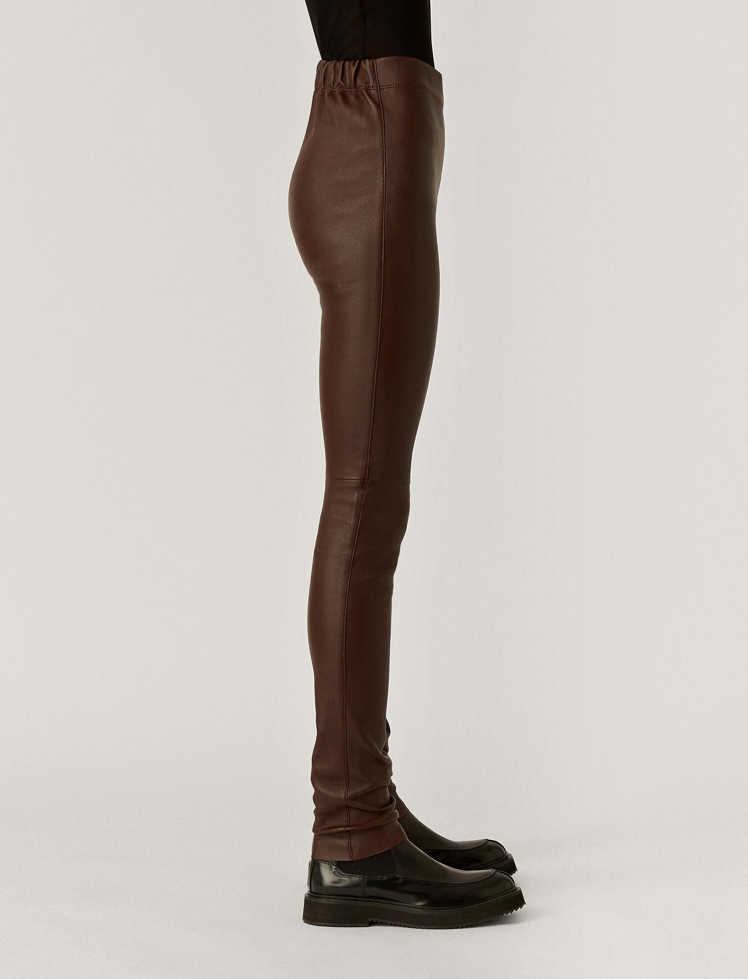 Joseph, Leather Stretch Legging, in Plum