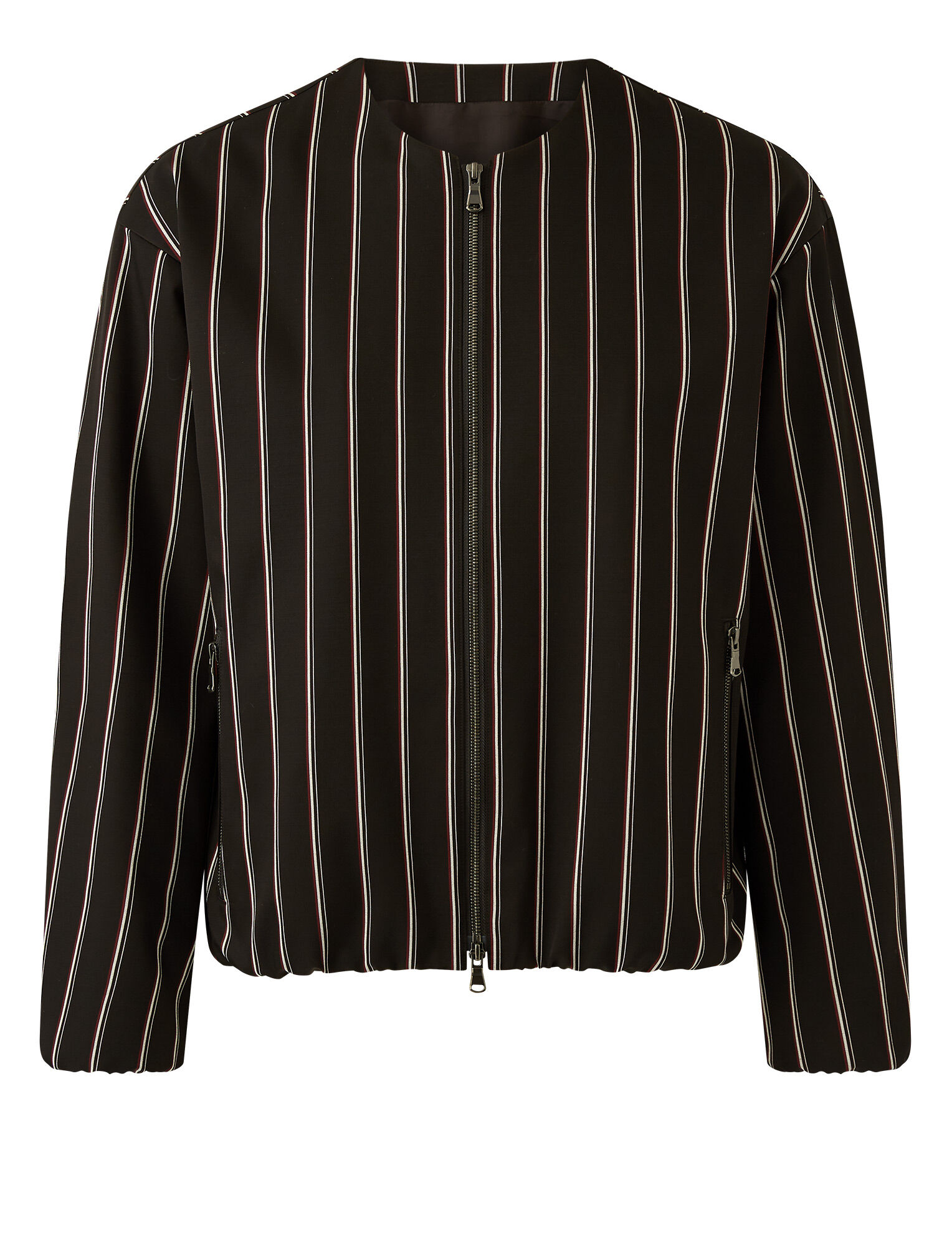 Joseph, Viscose Wool Stripe Jacket, in Black