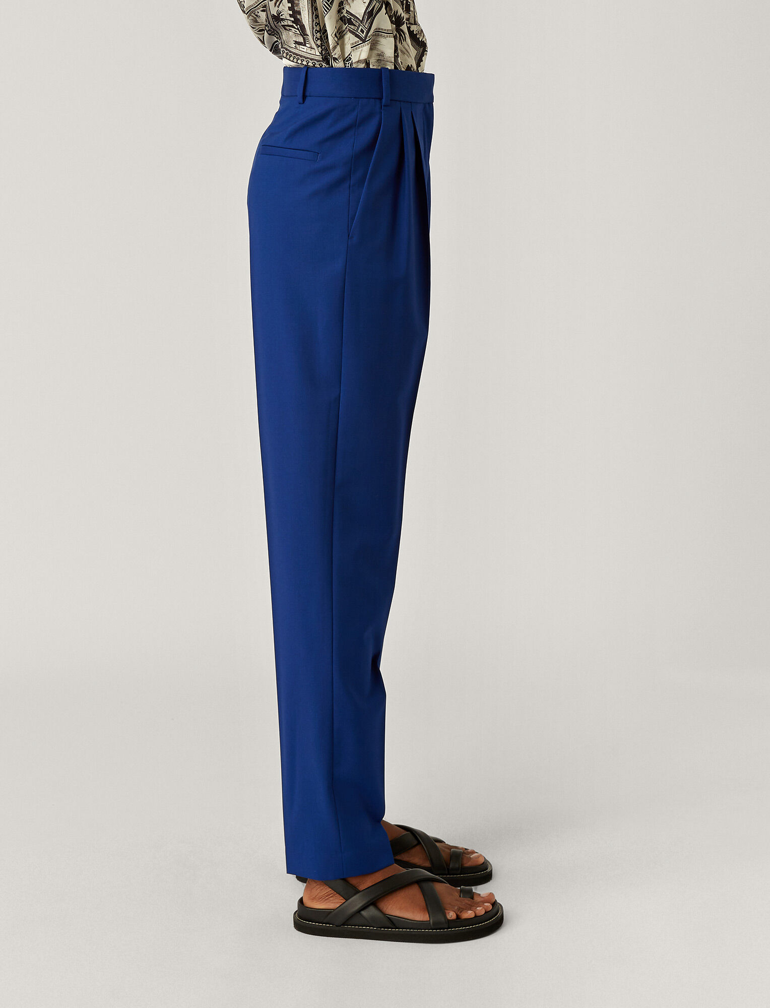 Joseph, Fender Toile de Laine Trousers, in KLEIN