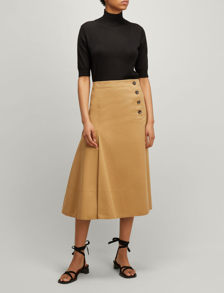 Joseph, Twill Chio Smith Skirt, in CAMEL
