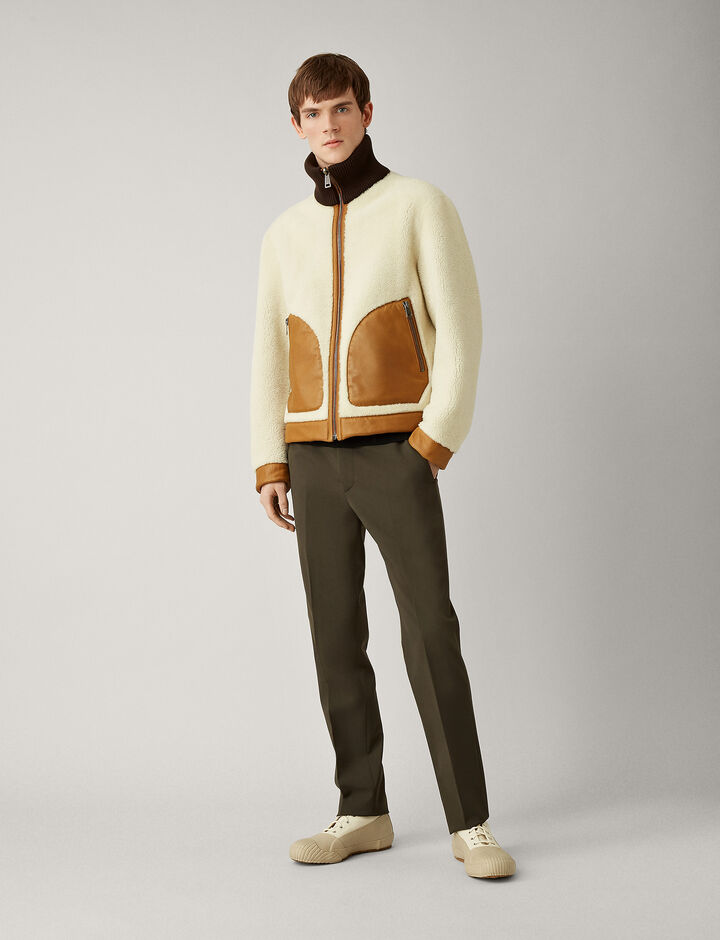 Joseph, Logan Shearling Nappato Sheepskin, in ECRU