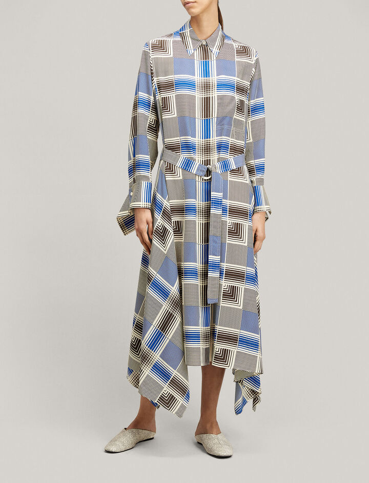 Joseph, Cyprien Foulard Check Dress, in MULTICOLOUR