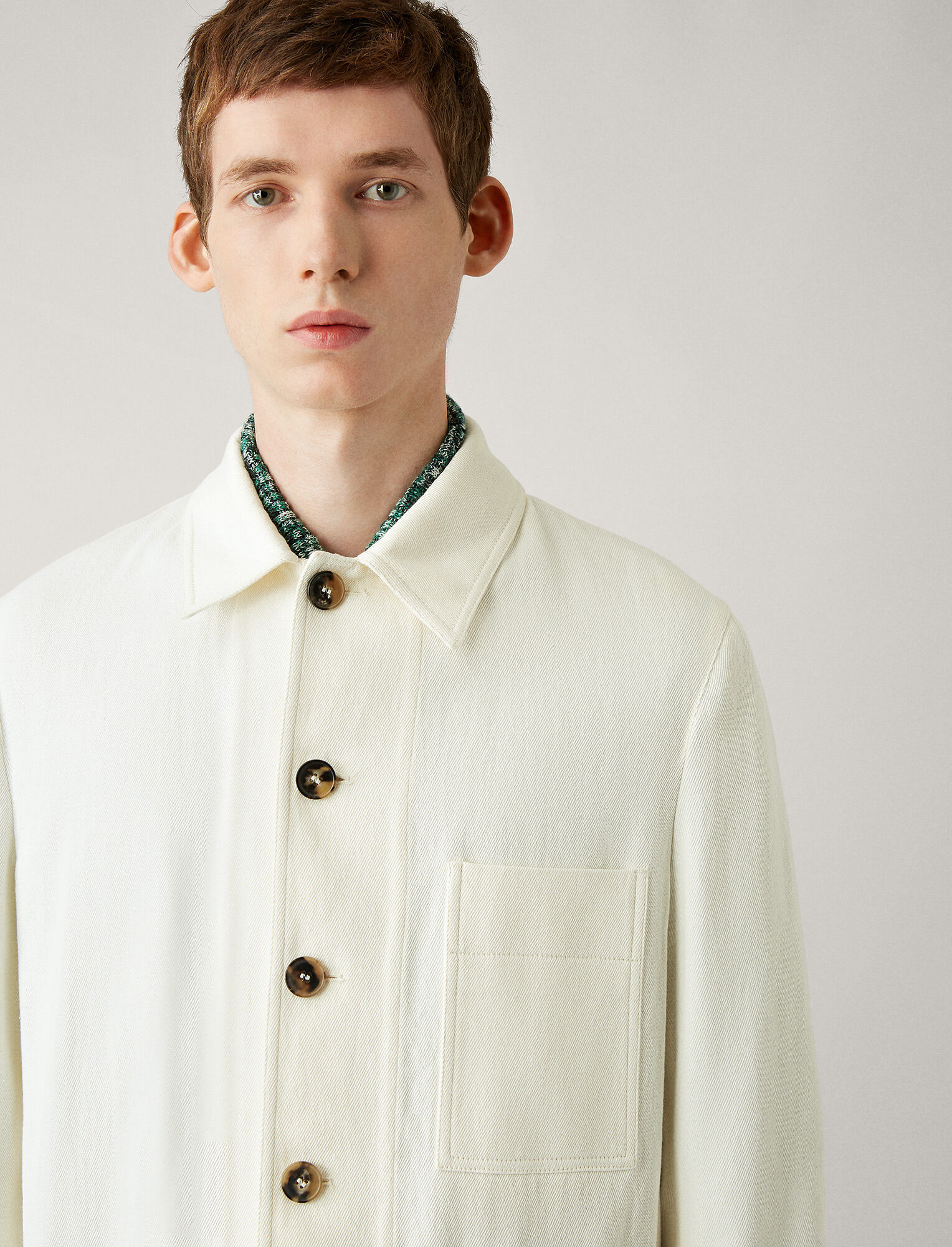 Joseph, Denis Workers Linen Jacket, in IVORY