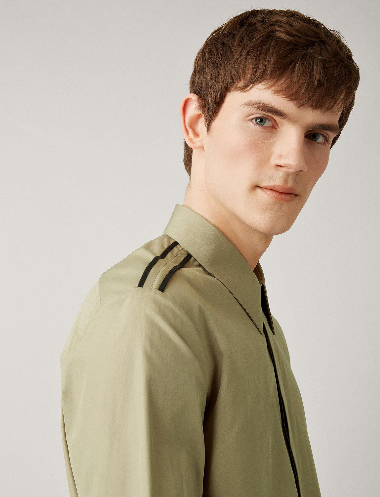 Joseph, James Poplin Shirt, in MILITARY