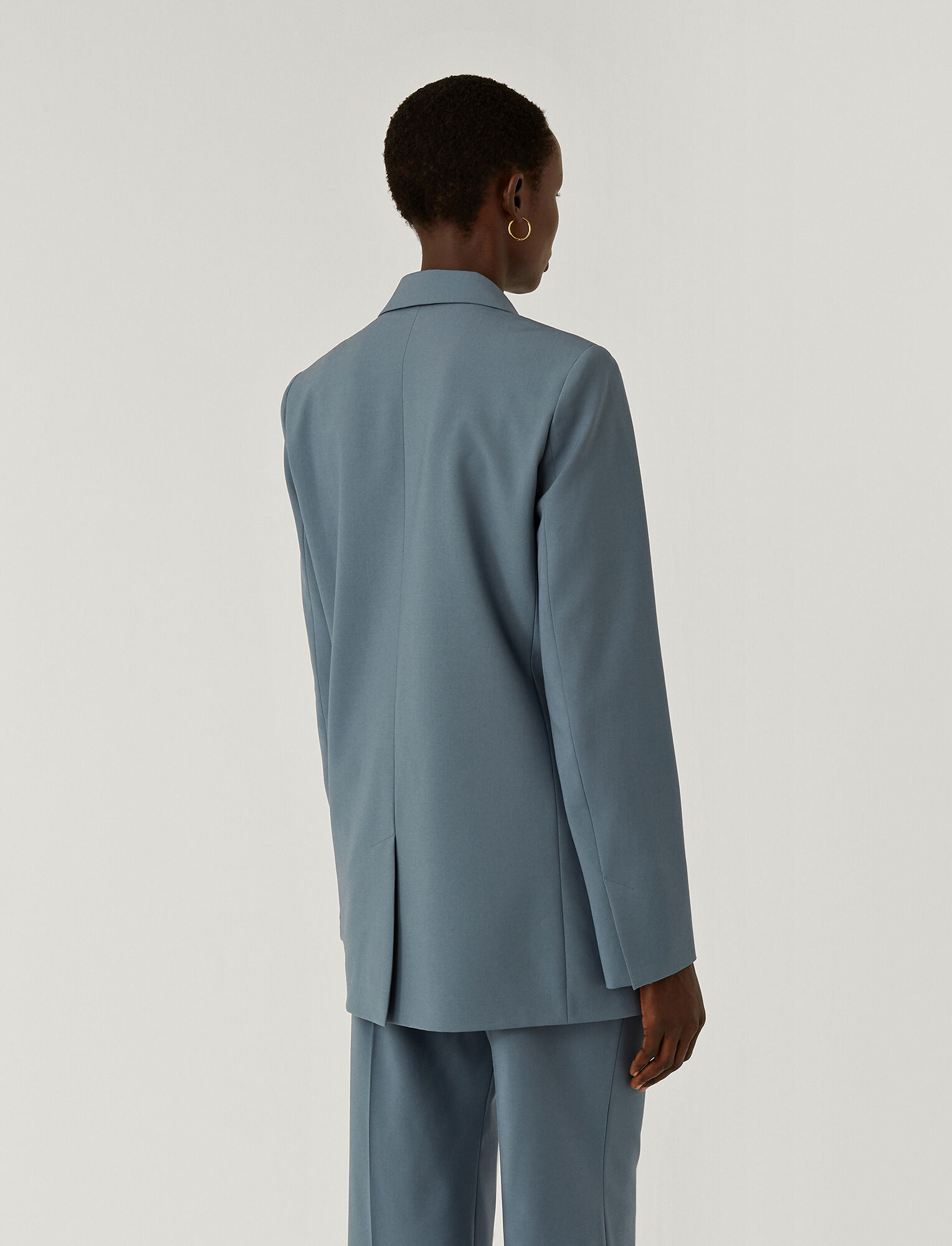 Joseph, Light Wool Suiting Joan Jacket, in BLUE STEEL