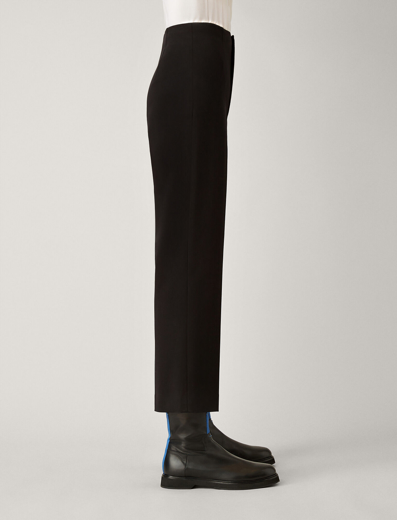 Joseph, Adabi Cotton Bi-Stretch Trousers, in BLACK