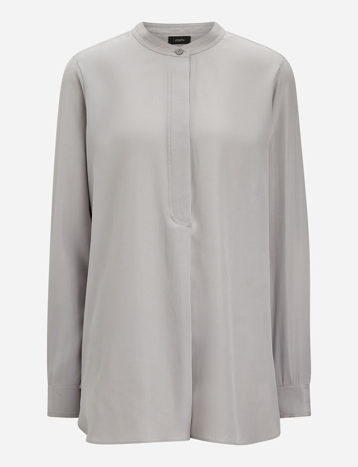 Joseph, Mara Silk Toile Blouse, in SMOKE