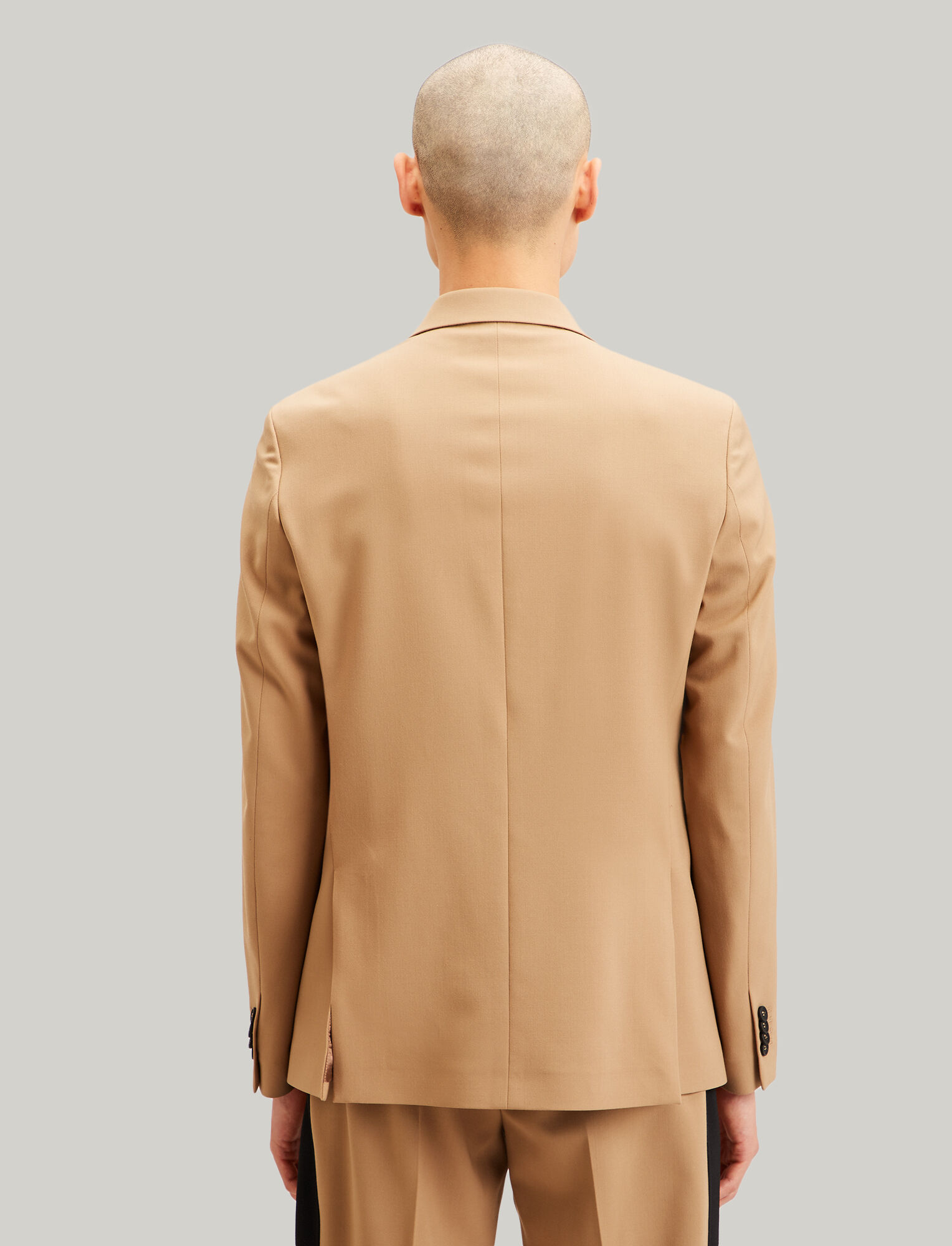 Joseph, Blazer Cannes en laine techno stretch, in CAMEL