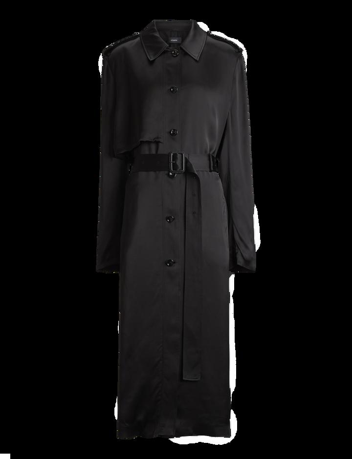 Joseph, Mercer Fluid Trench Coat, in BLACK