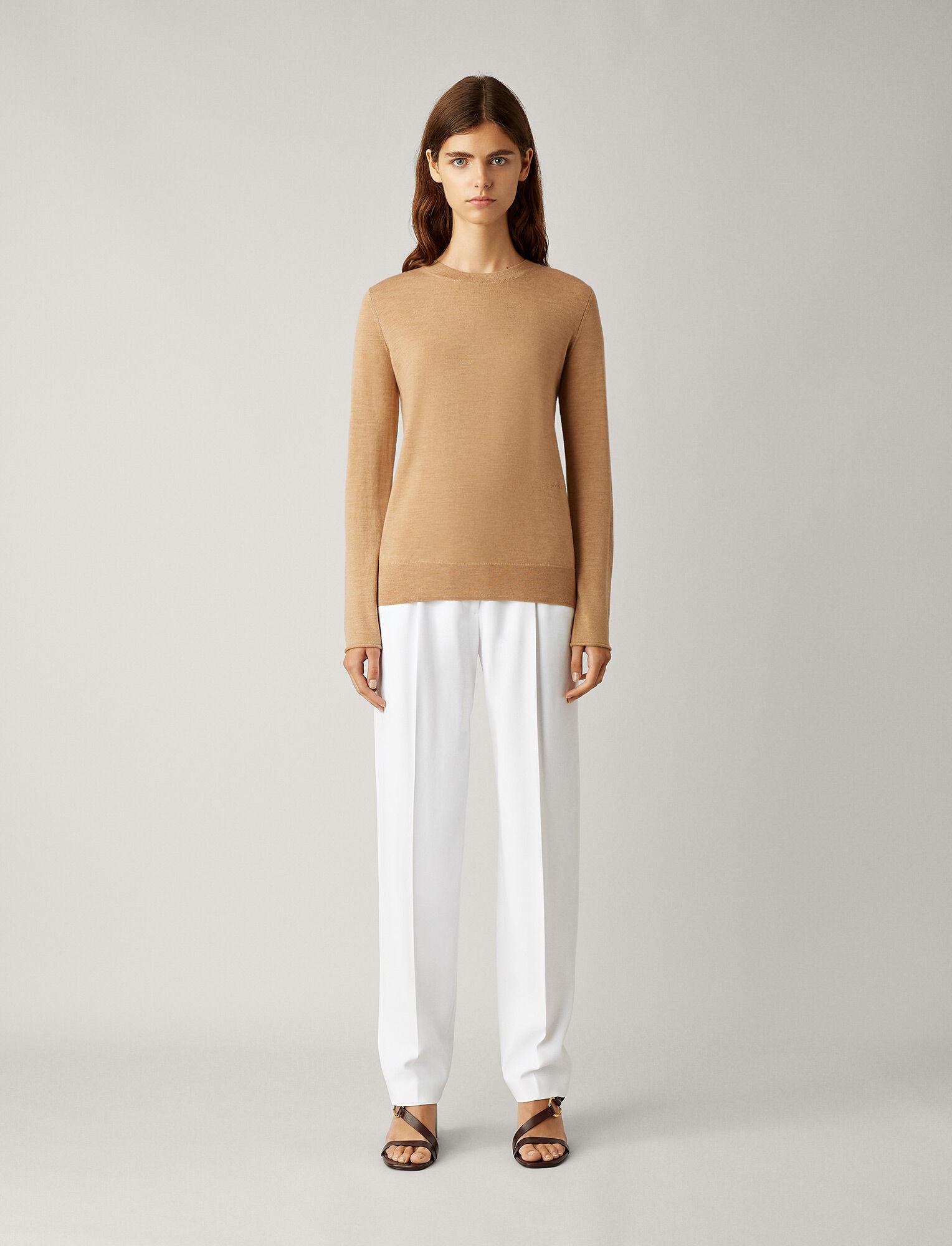 Joseph, Tricot en laine mérinos fine, in CAMEL