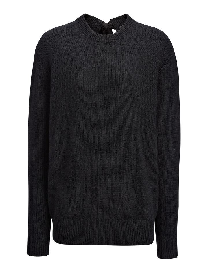 Joseph, Open Cashmere Top, in BLACK