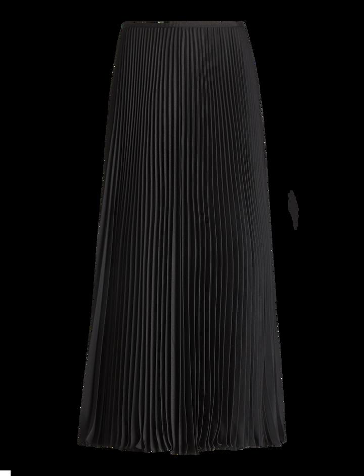 Joseph, Abbot Pleated Toile Skirt, in BLACK