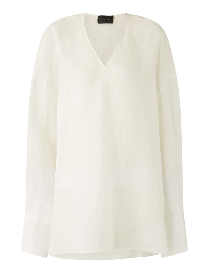 Joseph, Baje Ramie Voile Blouses, in Off White