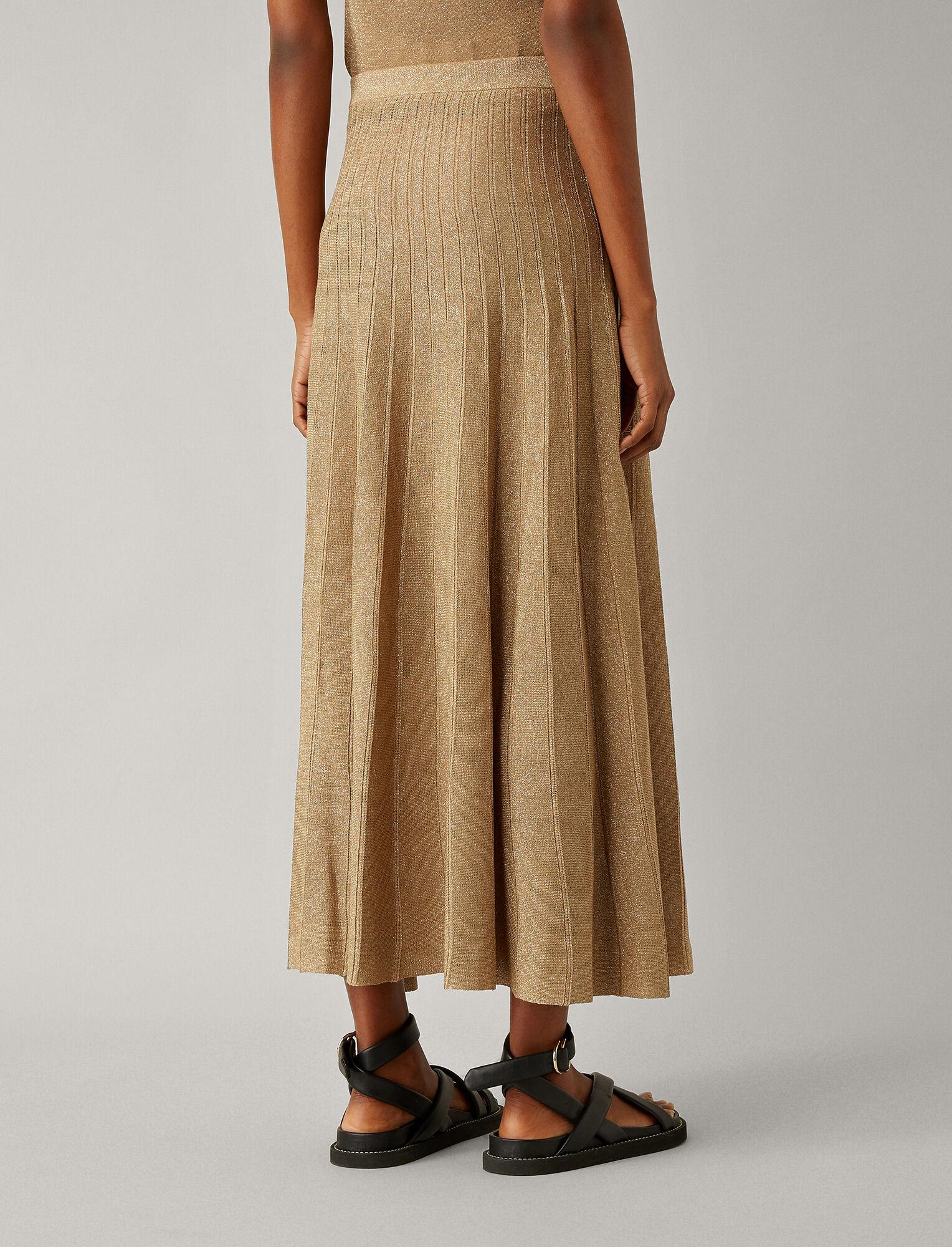 Joseph, Lurex Skirt, in TAN