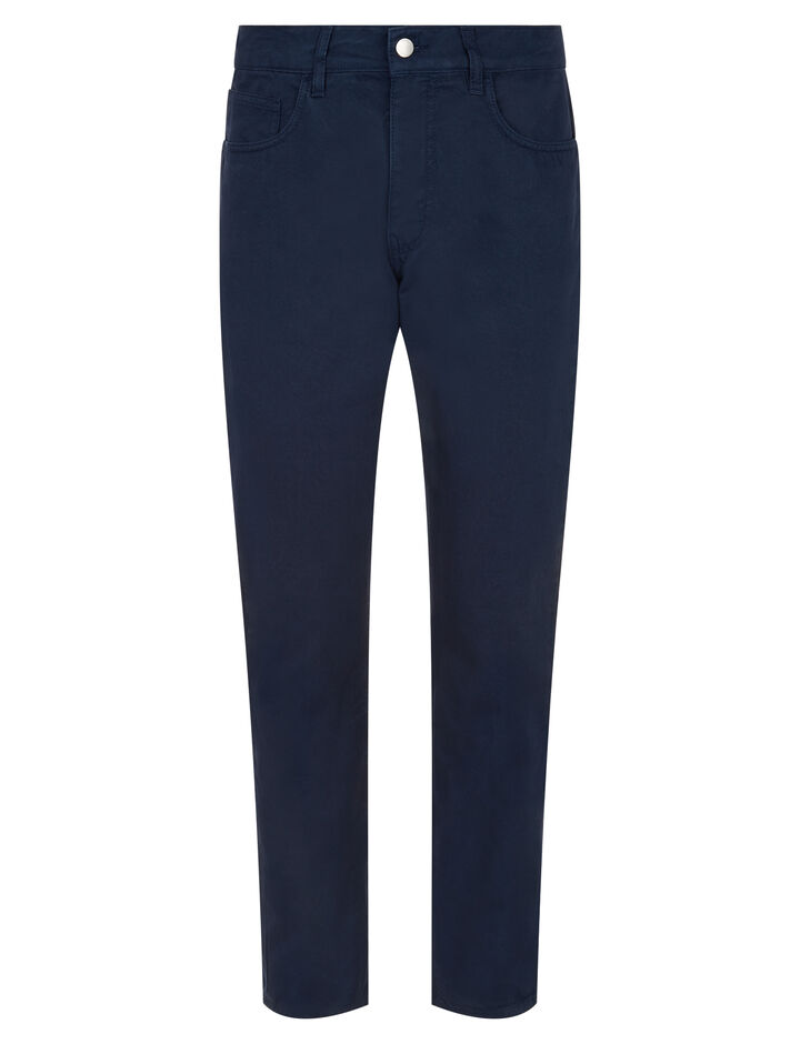 Joseph, Guillermo Light Cotton Dyed Trousers, in NAVY
