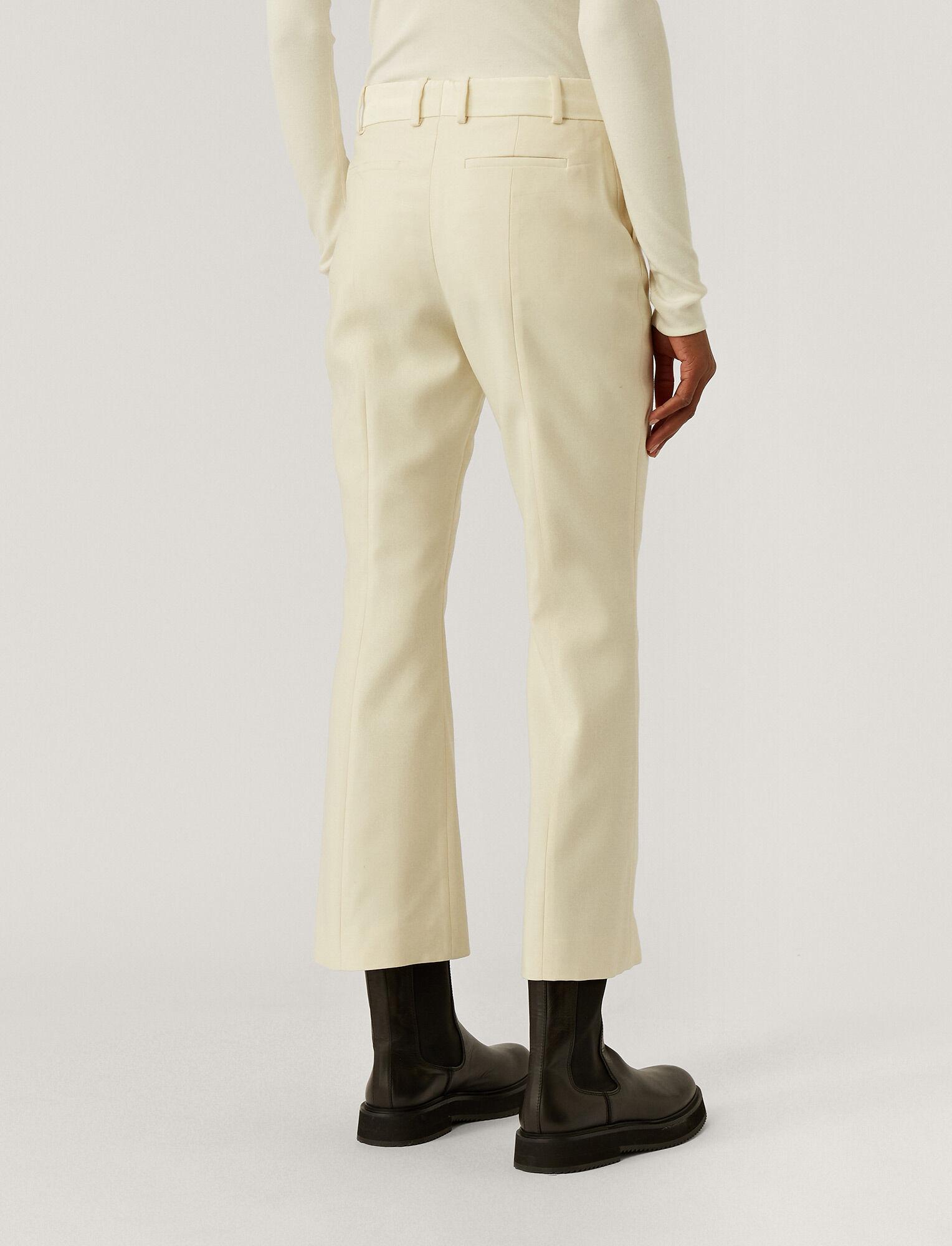 Joseph, Wool Silk Tux Teller Trousers, in IVORY