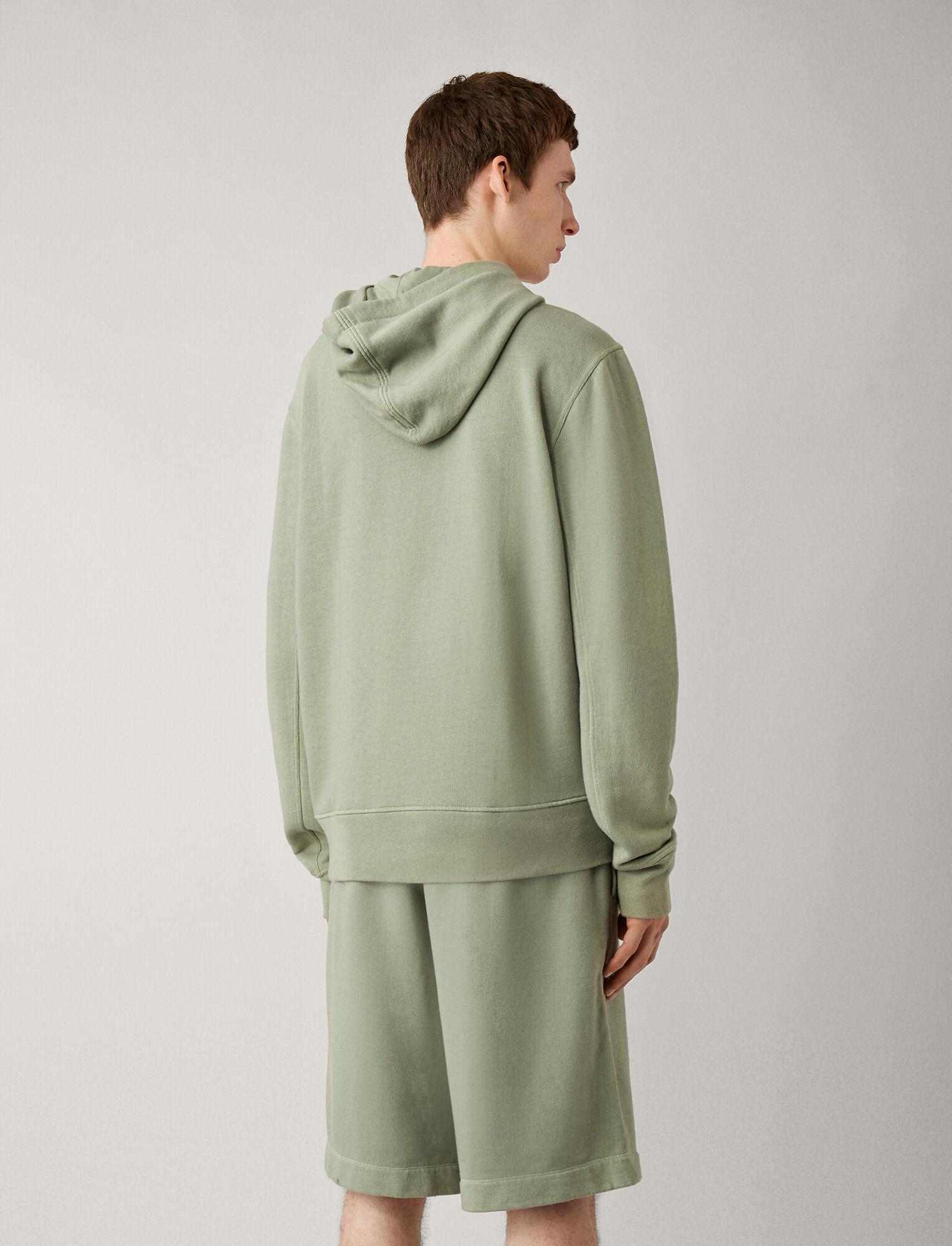 Joseph, Hoody Garment Dye Molleton Jersey, in KHAKI