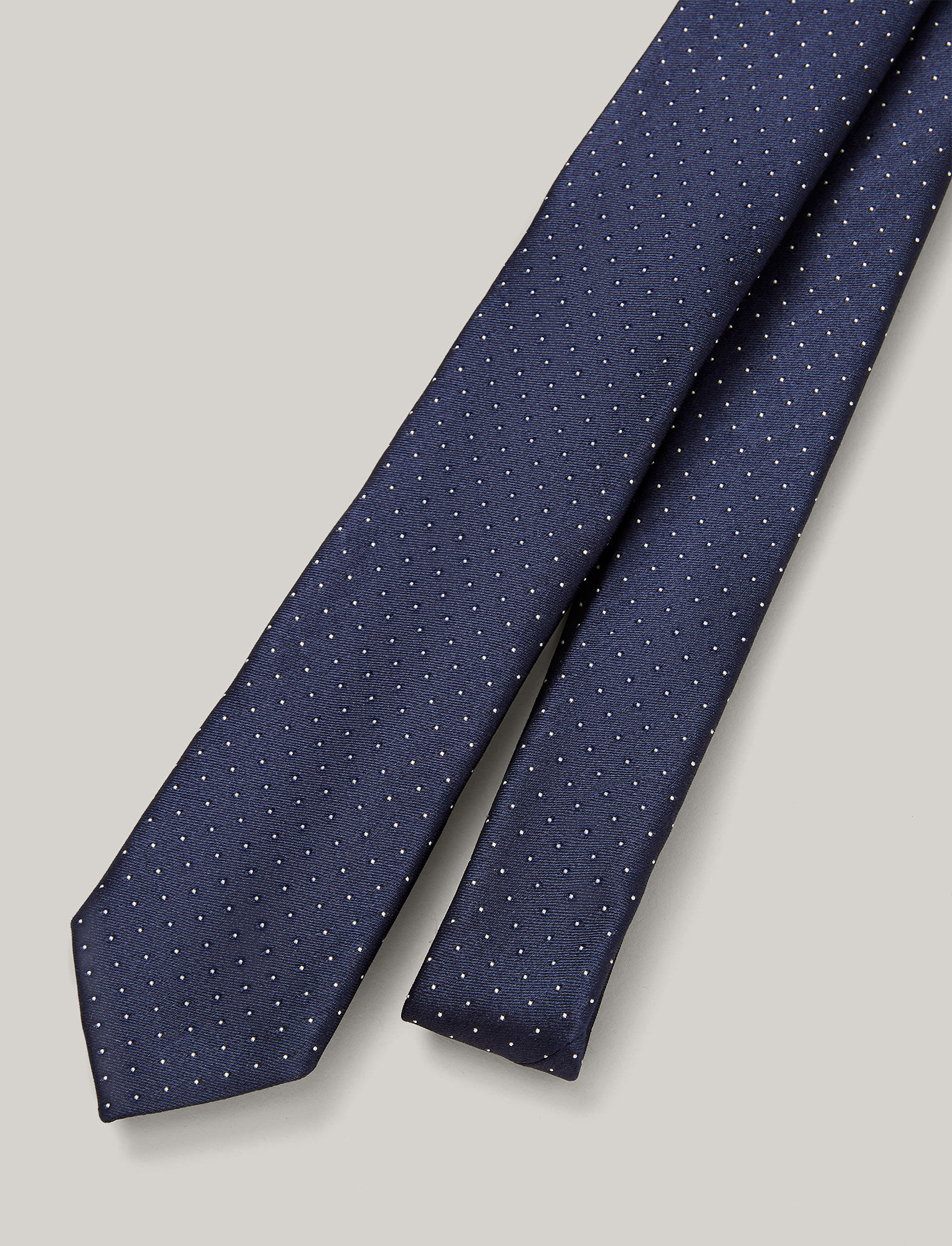 Joseph, Dot Silk Tie, in NAVY