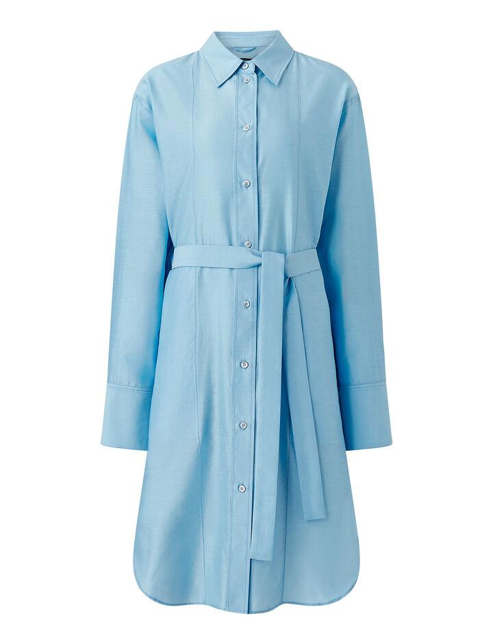 Joseph, Summer Silk Cotton Daxtona Dress, in CERULEAN