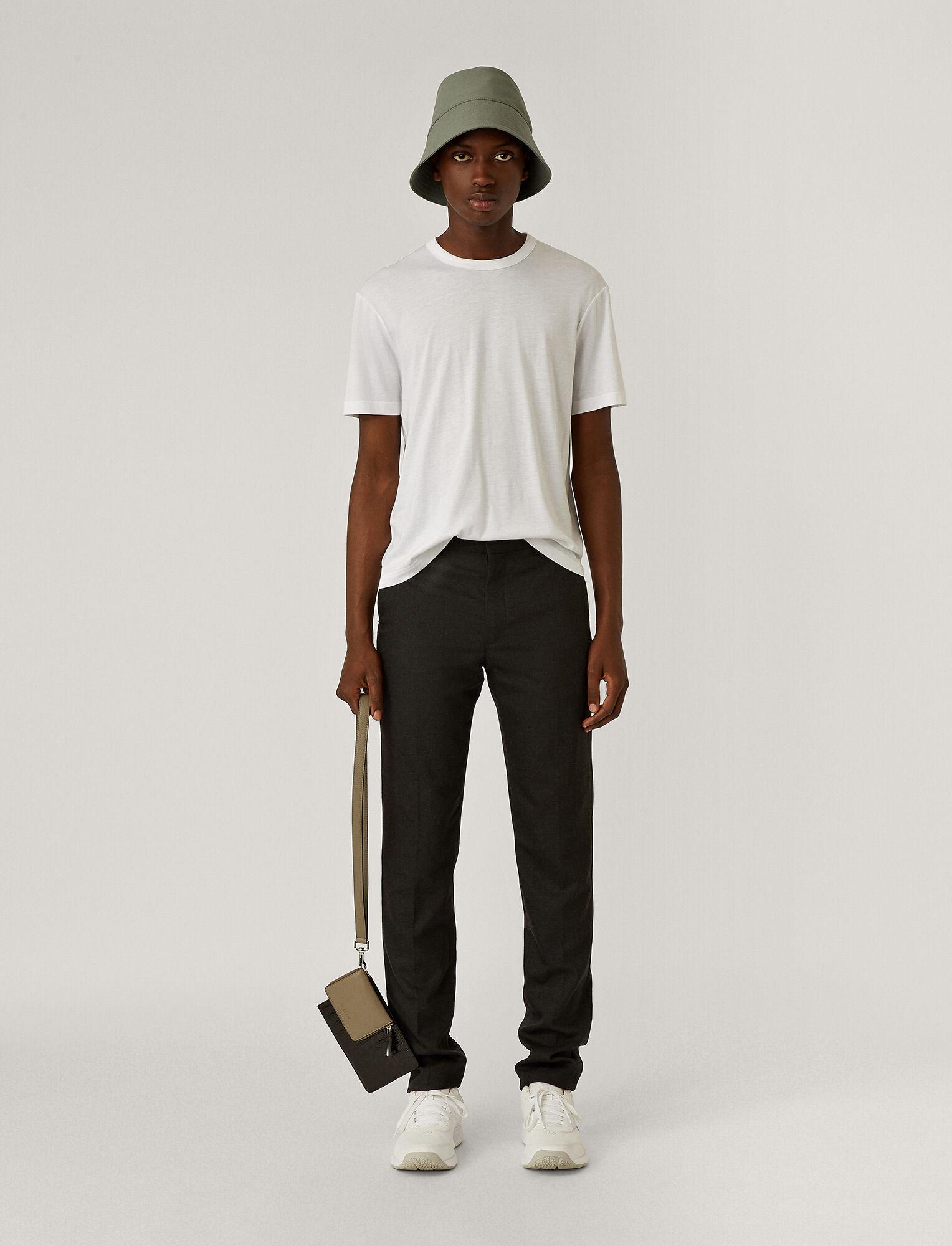 Joseph, Multi Pocket Leather Bag, in Grey