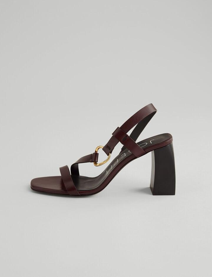 Joseph, Paloma Leather Sandal, in RAISIN