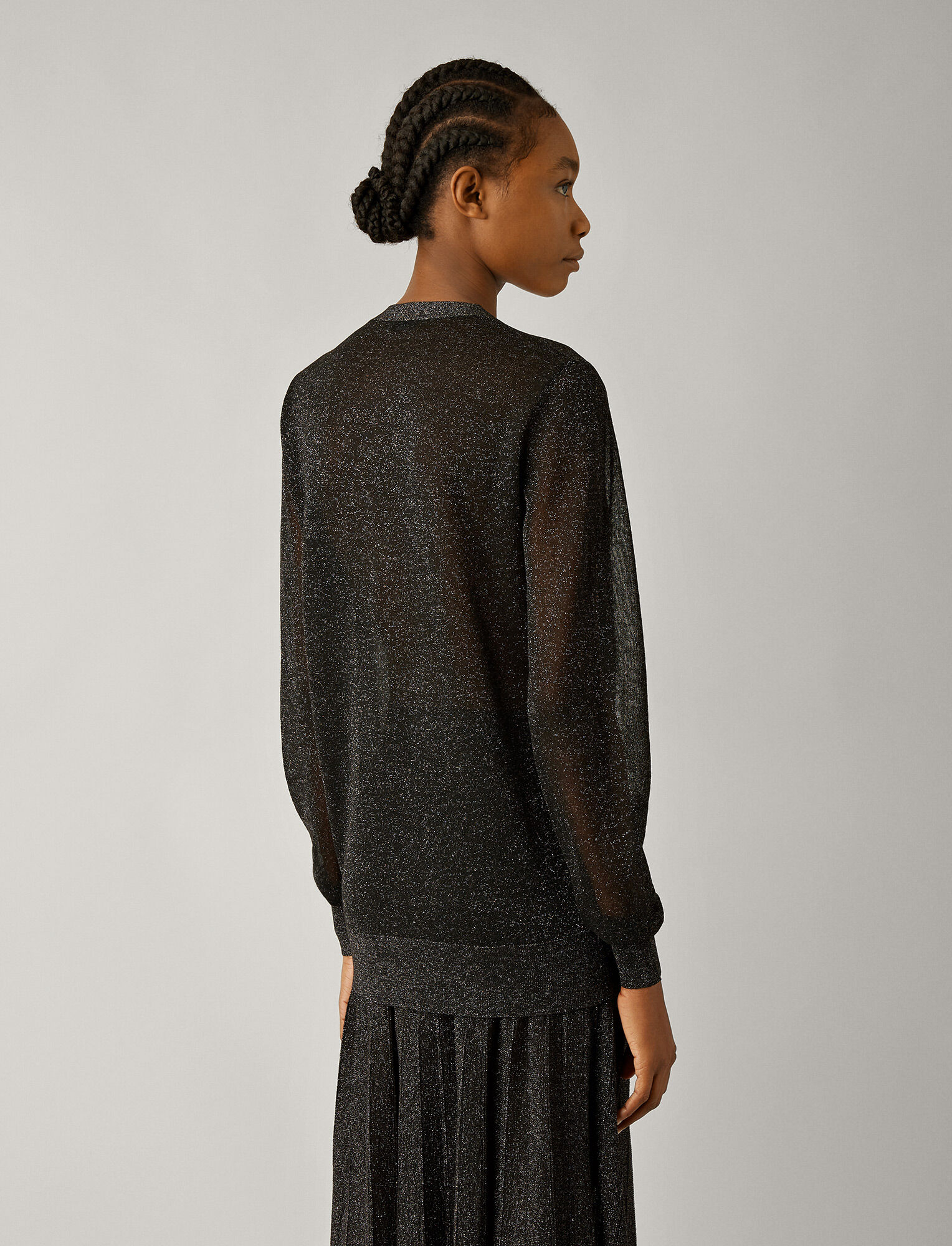 Joseph, Cardigan en tricot lurex, in BLACK