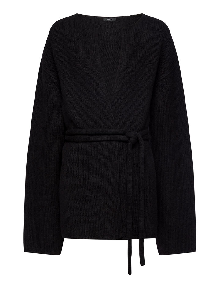 Joseph, Luxe Cashmere Cardigan, in Black