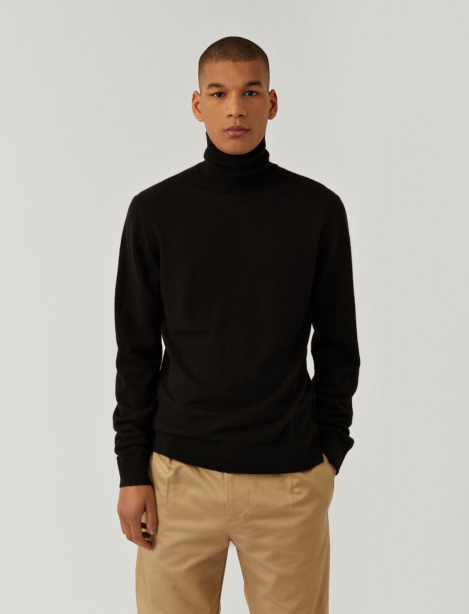 Joseph, Pure Cashmere Roll Neck Jumper, in BLACK