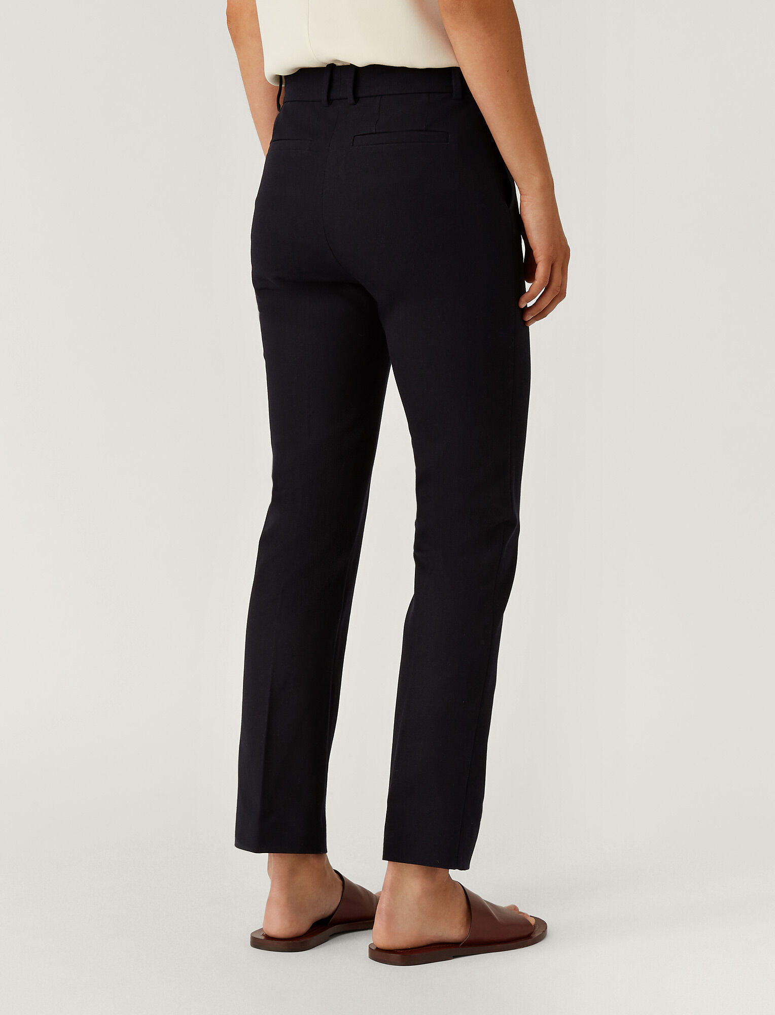 Joseph, Coleman Gabardine Stretch Trousers, in NAVY