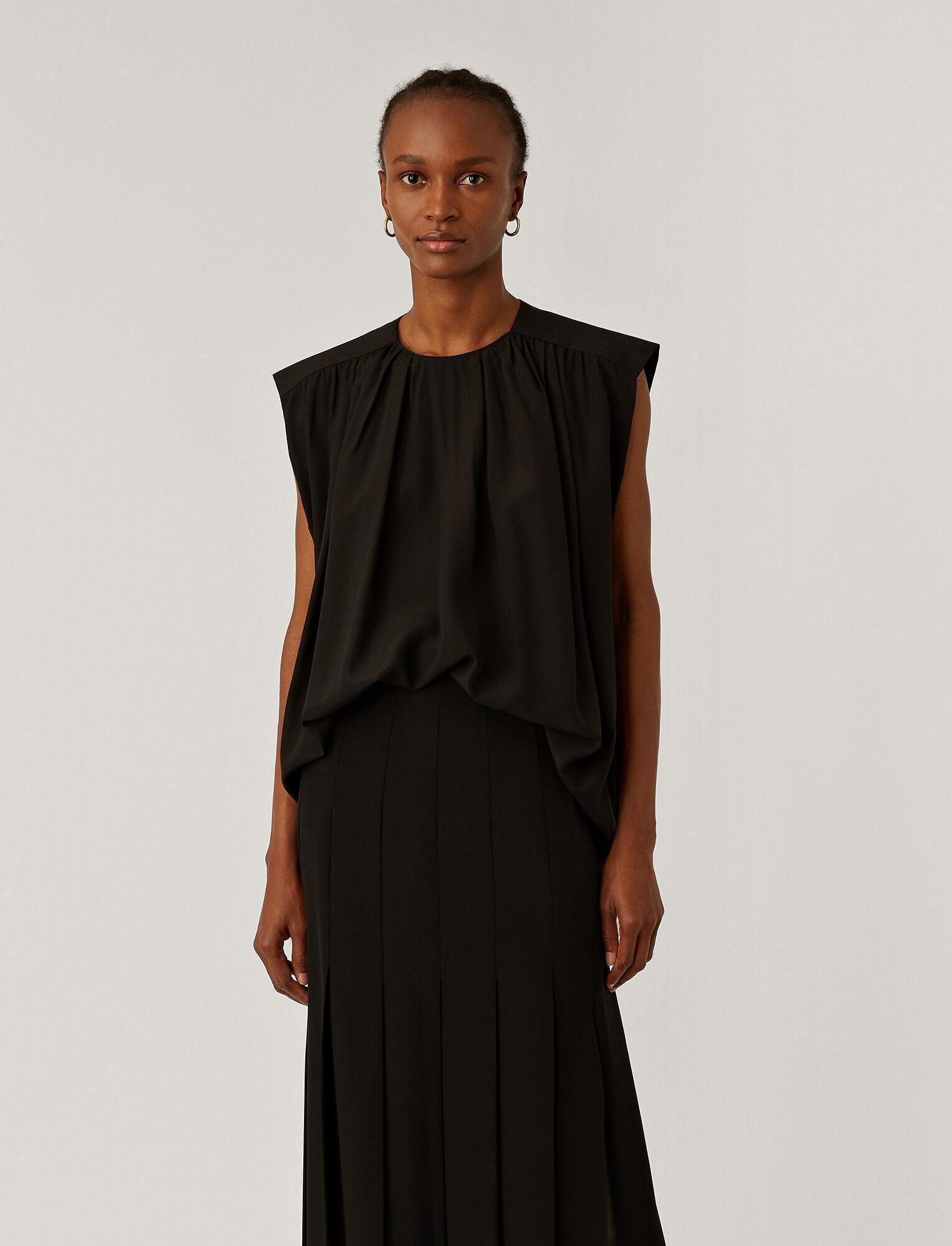 Joseph, Blakey Light Silk Blouse, in Black