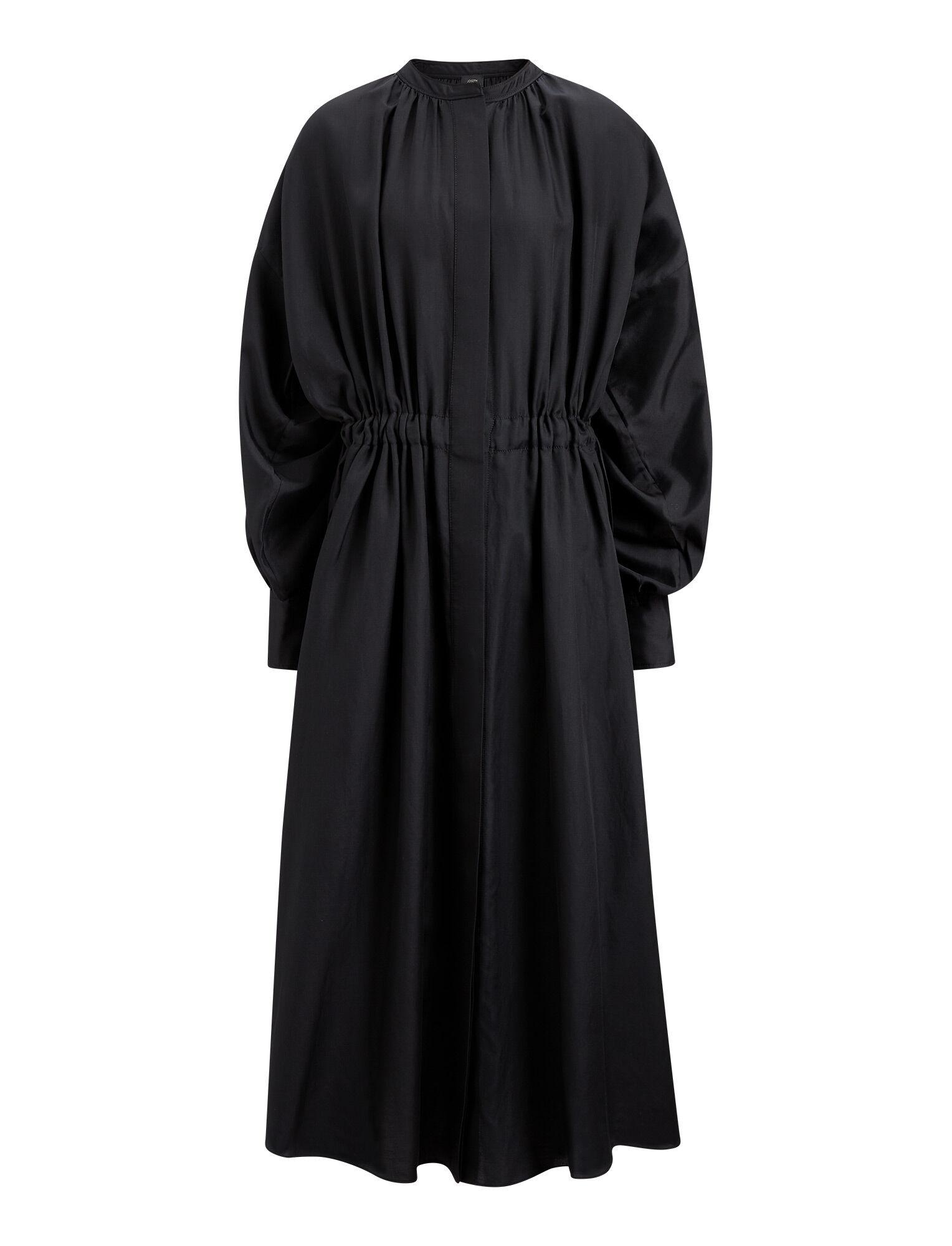 456635a036f0 Joseph, Rafael Cotton Silk Shirting Dress, in BLACK ...