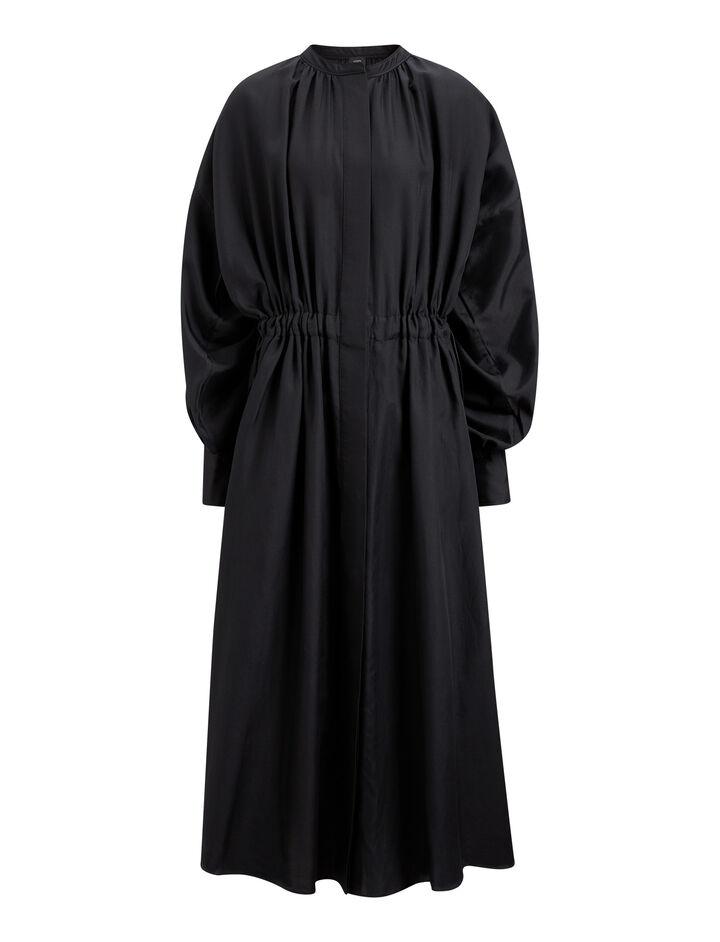 Joseph, Rafael Cotton Silk Shirting Dress, in BLACK