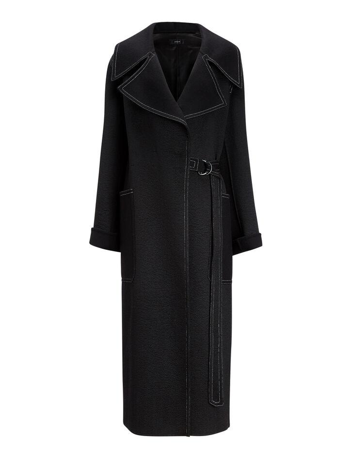 Joseph, Teodor Double Luster Coat, in BLACK