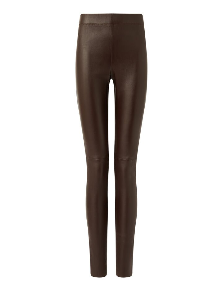 Joseph, Legging-Leather Stretch, in GANACHE