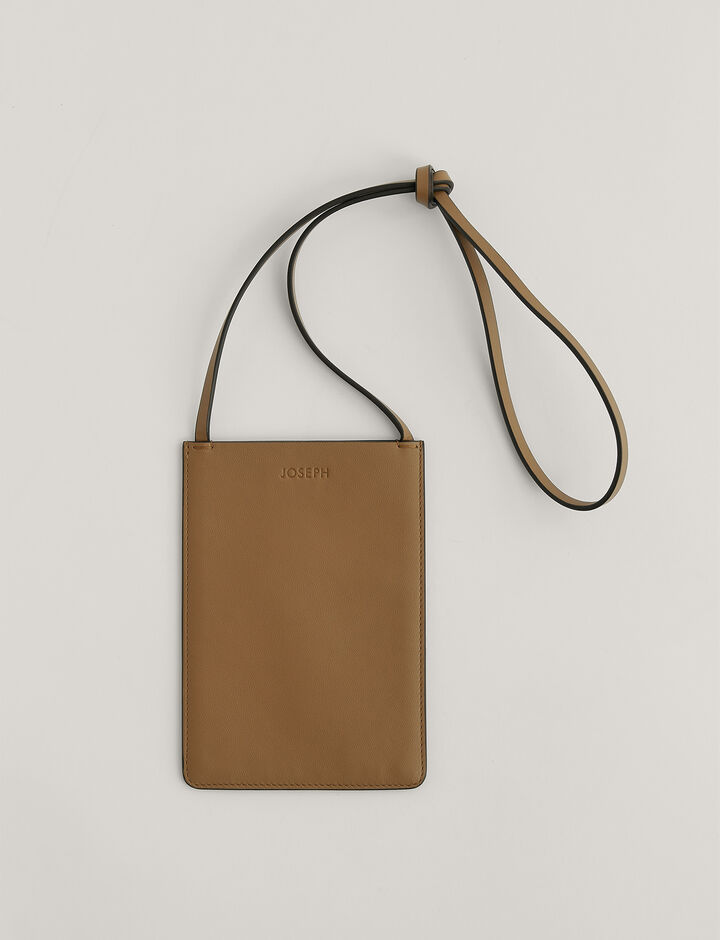 Joseph, Pocket bag-Leather, in SADDLE