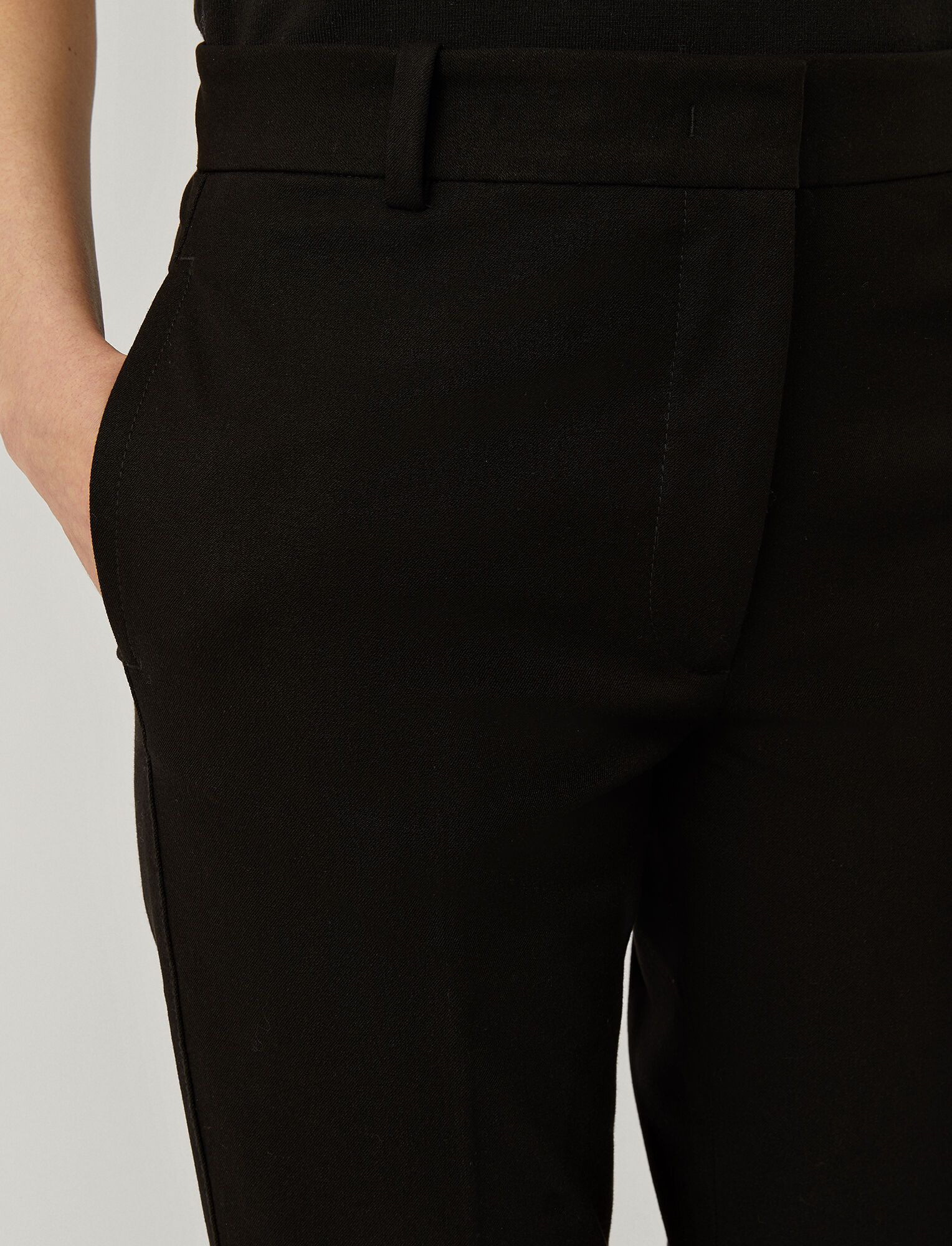 Joseph, Pantalon Zoom en gabardine stretch, in BLACK