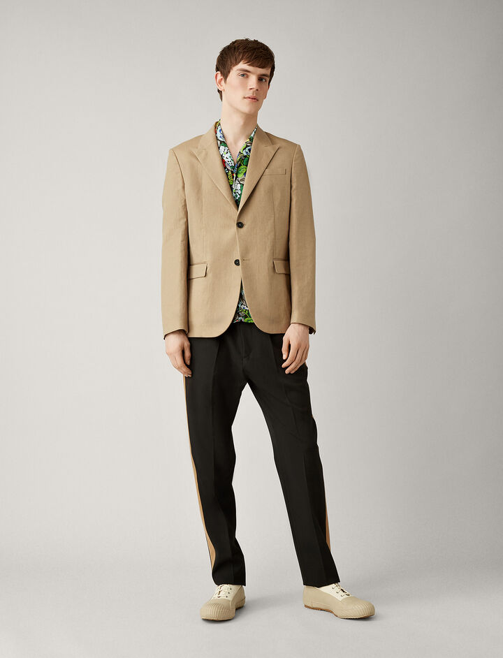 Joseph, Cavalaire Linen Cotton Blend Blazer, in SAND