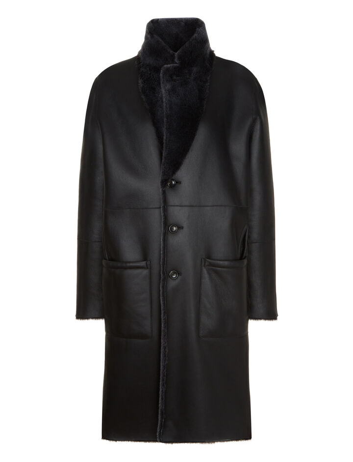 Joseph, Britanny Polar Skin Coats, in Black