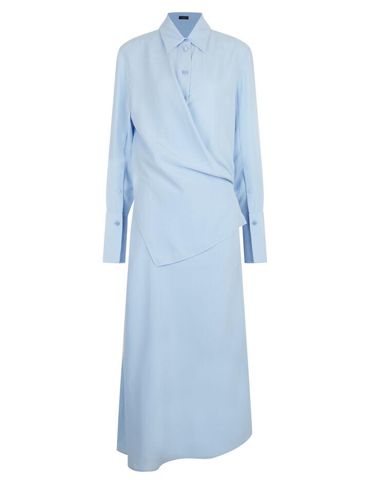 Joseph, Claudi Silk Toile Dress, in PERIWINKLE