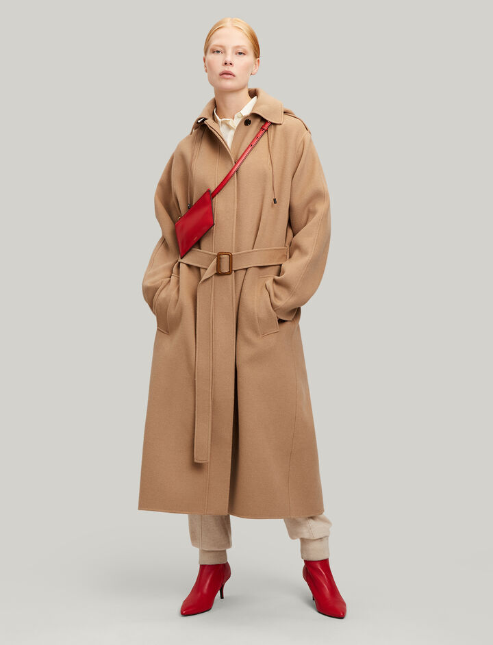 Joseph, Carbon Feather Double Cashmere Coat, in CAMEL