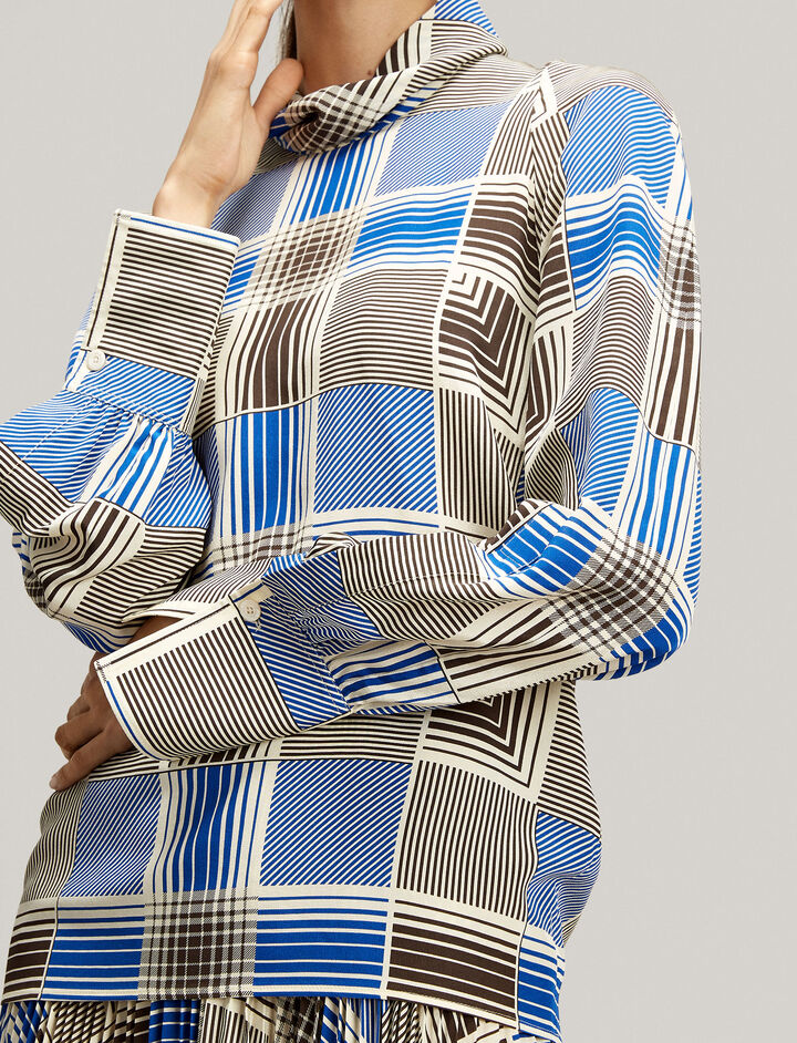 Joseph, Laurel Foulard Check Blouse, in MULTICOLOUR