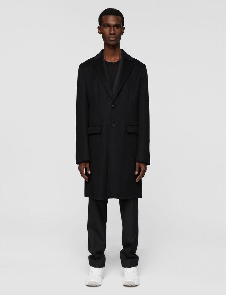 Joseph, Armand-Feather Dbl Cashmere, in BLACK