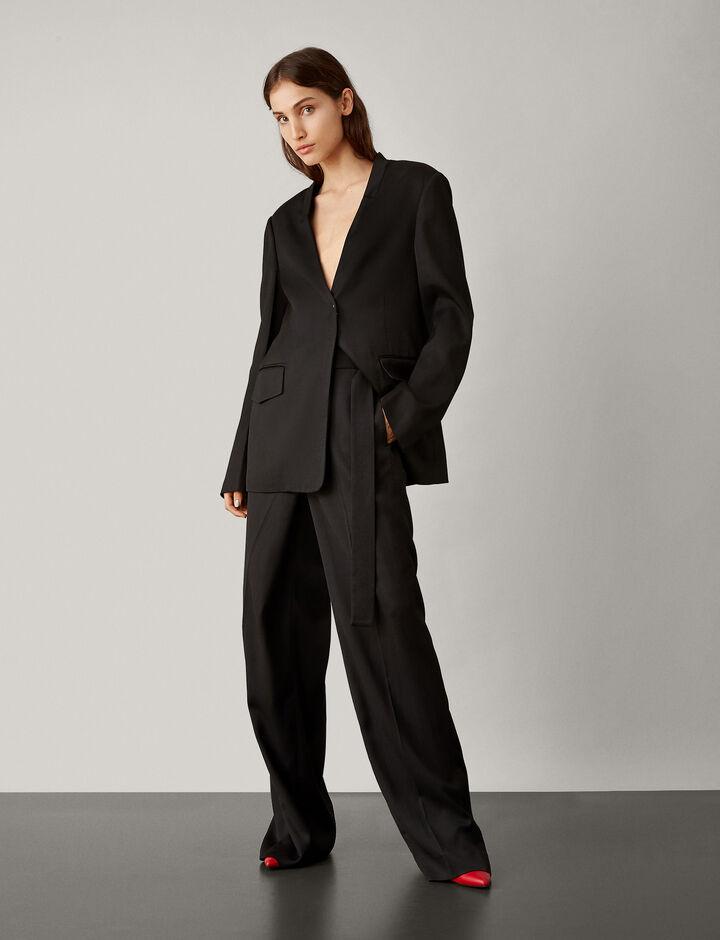 Joseph, Stanley Fluid Tailoring Trousers, in BLACK